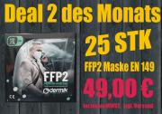 FFP2 Atemschutzmaske nach EN 149  25 Stück Packung