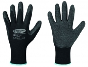 POLYAMID (NYLON) / LATEX HANDSCHUHE STRONGHAND FINEGRIP SCHWARZ, CAT 2